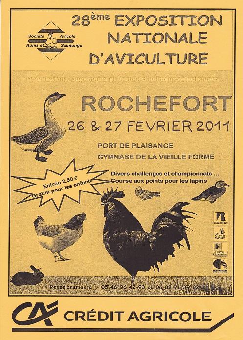Exposition nationale d 39 aviculture rochefort le 26 et 27 f vrier 2011 - Port de plaisance de rochefort ...