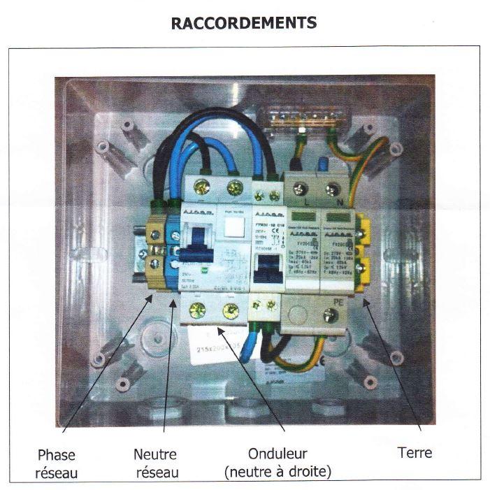 Branchement boitier ac forum photovolta que - Branchement disjoncteur differentiel ...