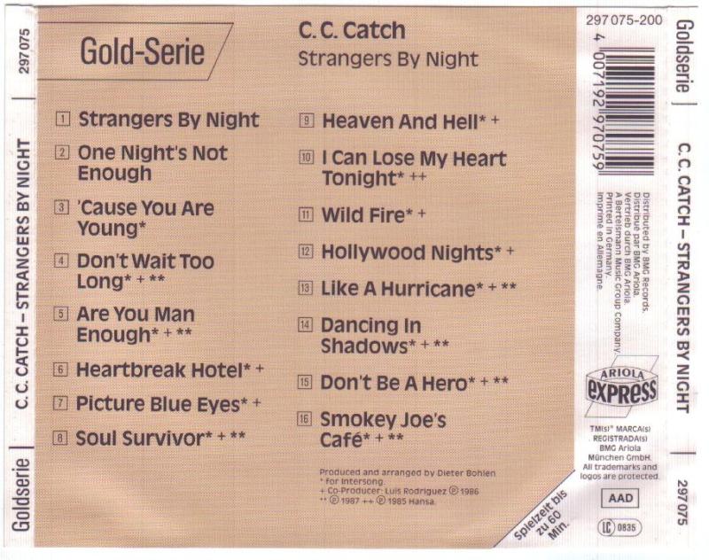 C.C.Catch - Strangers By Night