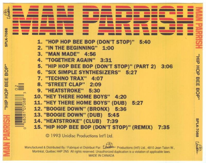 Man Parrish - Hip Hop Bee Bop
