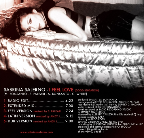 Sabrina Salerno - I Feel Love (Good Sensation)