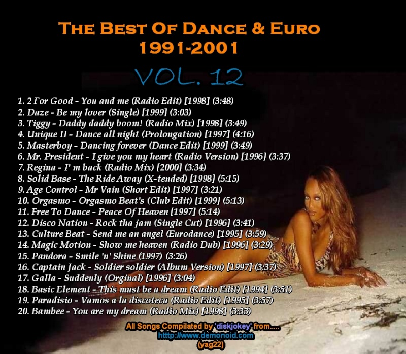 The Best Of Dance & Euro 1991-2001 Vol 12