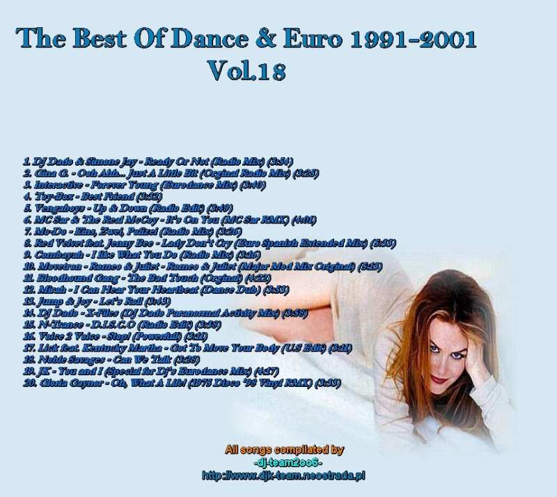 The Best Of Dance & Euro 1991-2001 Vol 18