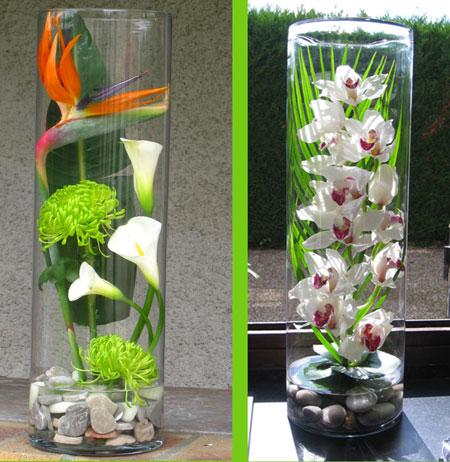 Remplir un grand vase for Quoi mettre sur une table basse