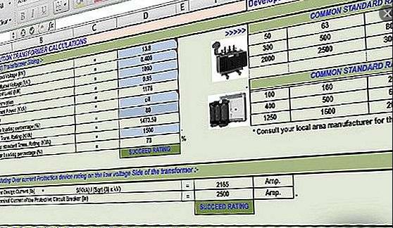 برنامج اكسيل رائع للحسابات الكهربائية للمشروع كلة فى الجهد المنخفض و المتوسط