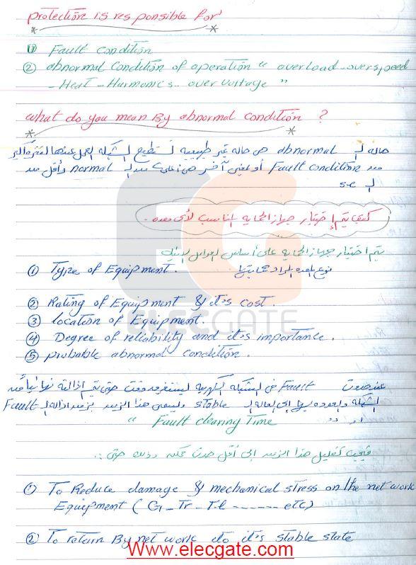 جميع محاضرات د. جبر عبدالسلام فى الوقاية الكهربية