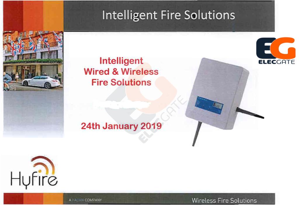 حصريا : شرح نظام انذار الحريق اللاسلكى Wireless fire alarm system