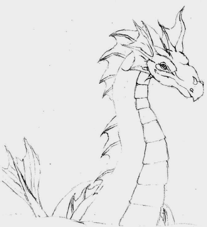 how to draw a serpent dragon