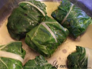 Feuilles de blettes farcies la viande et au riz le - Comment cuisiner des feuilles de blettes ...