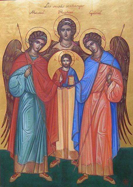 Saints  Michel, Gabriel et Raphaël. dans Saint du jour les_sa10