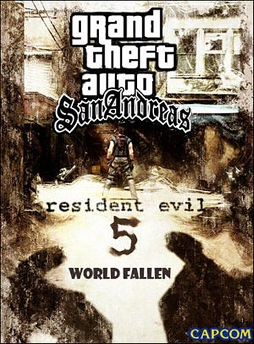 Grand Theft Auto San Andreas Resident Evil 5 World Fallen 1.40GB