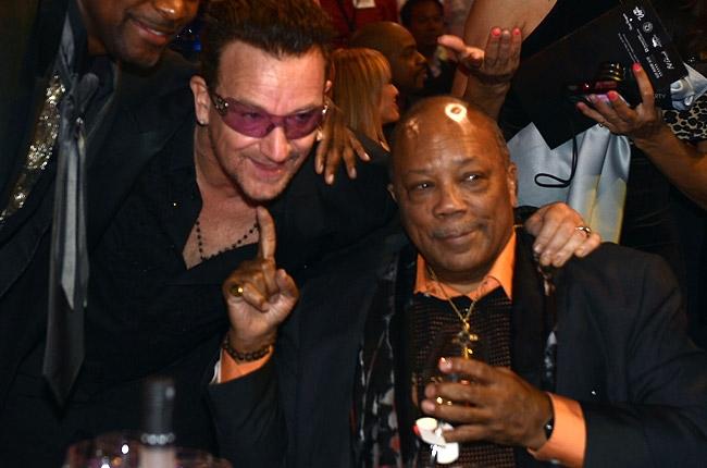 Bono... live au concert Célébration Quincy Jones et Sir Michael Caine