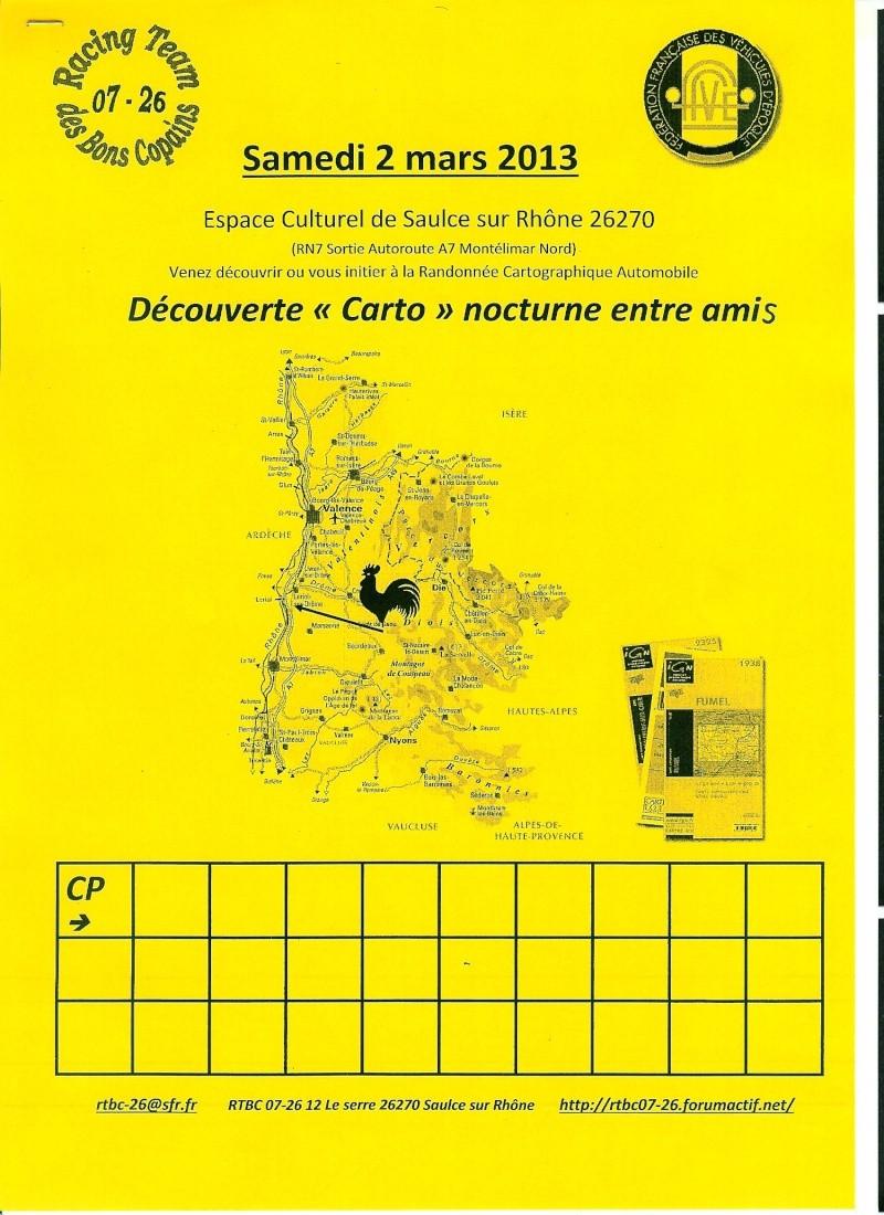 D couverte carto nocturne entre amis samedi 2 mars 2013 for Menu samedi soir entre amis