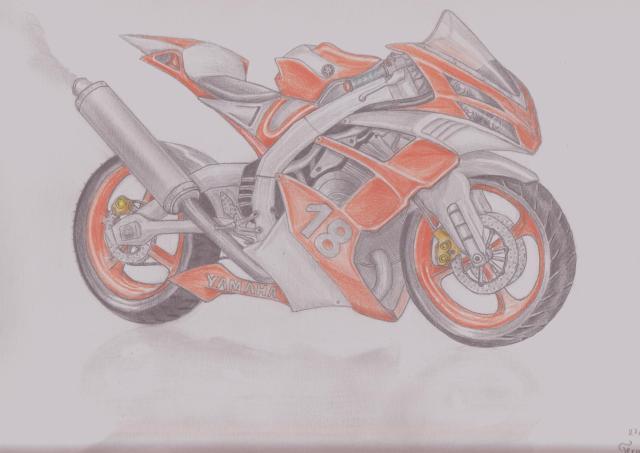 Dessin moto sportive - Image moto sportive ...