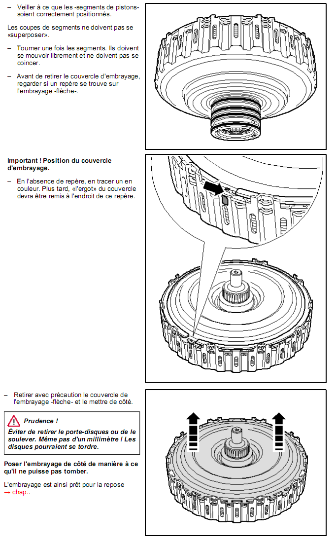 description et r paration boite dsg 02e. Black Bedroom Furniture Sets. Home Design Ideas