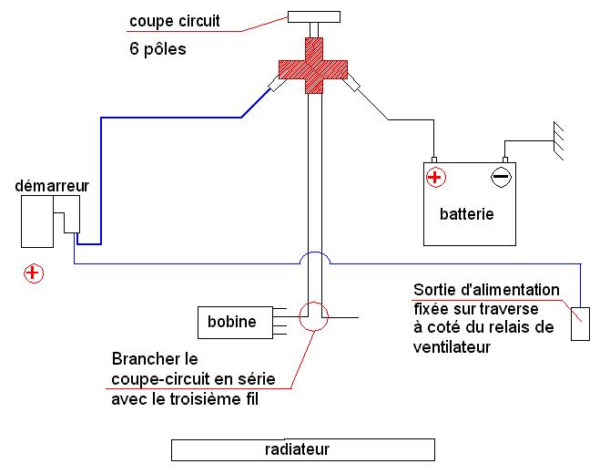 Shema cablage - Branchement coupe batterie ...