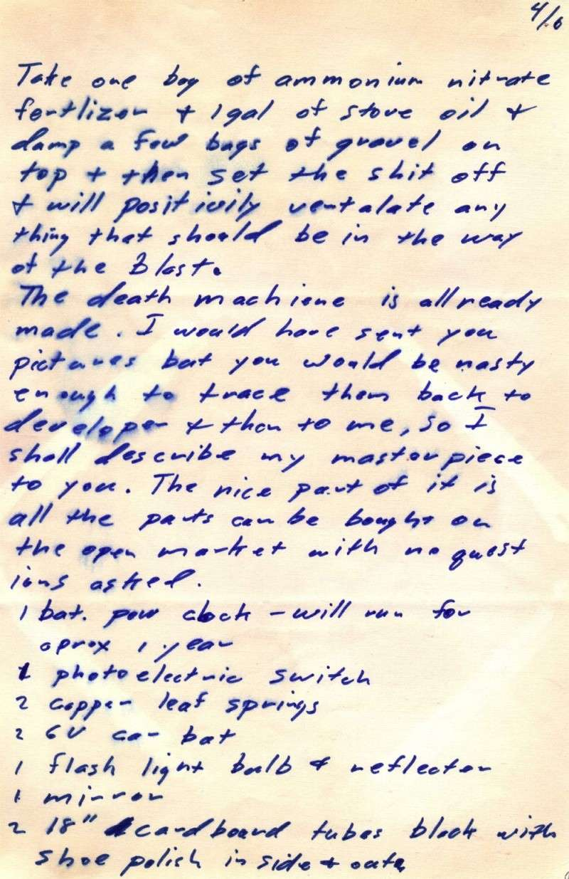 zodiac killer letters zodiackillersite view topic 11 9 69 bomb 11492 | bus410
