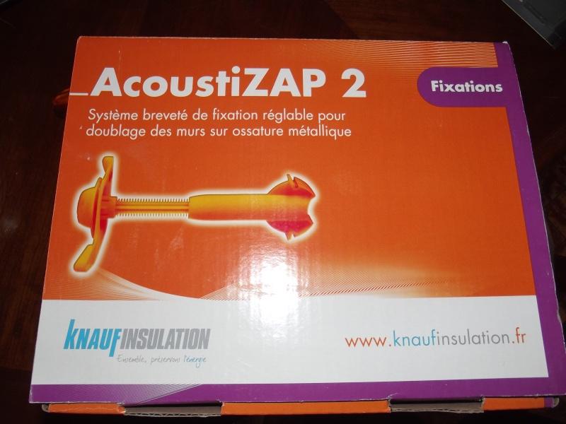 appui acoustizap 2 systeme optima pour ossature m tallique knauf isolation murs ebay. Black Bedroom Furniture Sets. Home Design Ideas