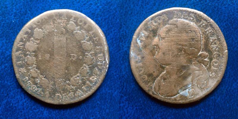Monnaie louis xvi 2 pi ces 12 deniers 2 sols - Sol en piece de monnaie ...