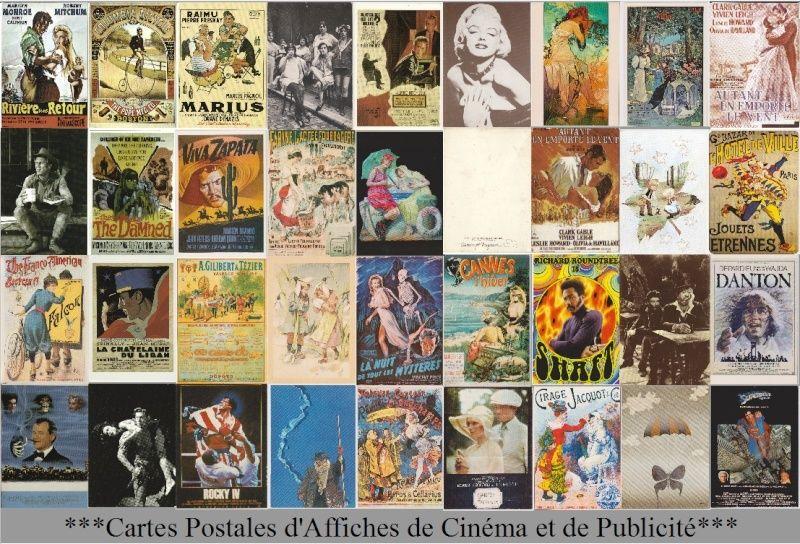***Cartes  Postales d'Affiches de Cinéma et de Publicité***